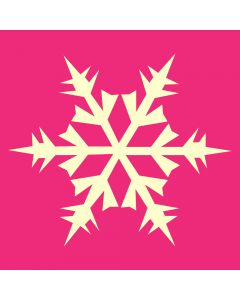 Fairydust Stencils & Masks - Snowflake Design 2 Stencil and Mask