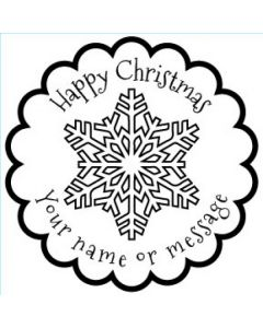 Personalised Christmas Stamp - Snowflake - Small (48mm Square)