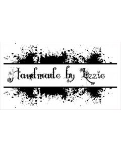 Personalised Handmade By Stamp - Splat