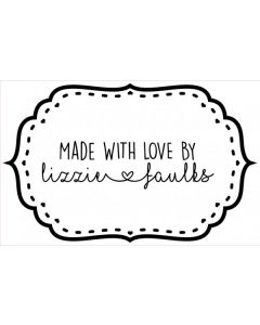 Personalised Handmade By Stamp - Stitched Plaque