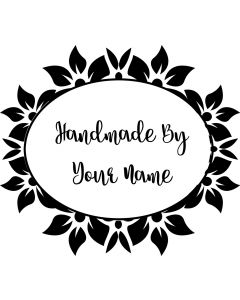 Personalised Handmade By Stamp - Flower Frame