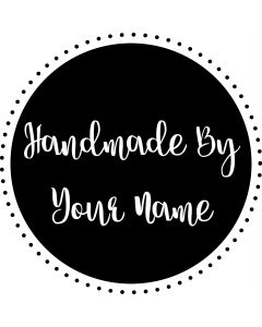 Personalised Handmade By Stamp - Dotted Circle