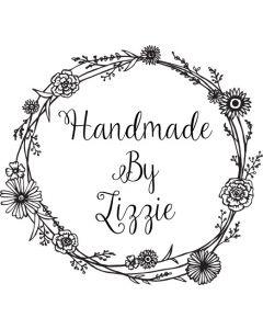 Personalised Handmade By Stamp - Flower Border