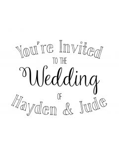 Personalised Wedding Stamp - Colour Me in Invite