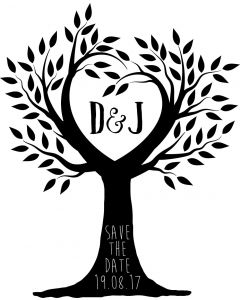 Personalised Wedding Stamp - Save the Date Tree