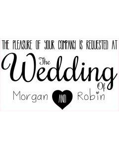 Personalised Laser Rubber Stamp - Wedding Invitation: Heart Invite