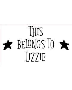 Personalised Laser Rubber Stamp - This Belongs To: Star