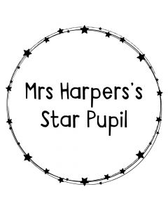 Personalised Laser Rubber Stamp - Teacher: Ring of Stars