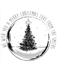 Personalised Laser Rubber Stamp - Christmas Bauble