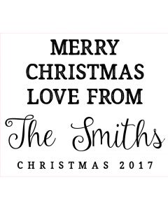 Personalised Laser Rubber Stamp - Merry Christmas