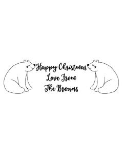 Christmas Polar Bears - Personalised Laser Cut Rubber Stamp