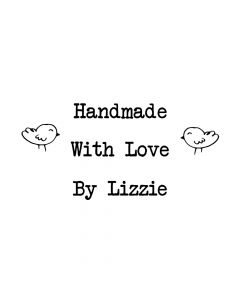 Personalised Handmade By Laser Rubber Mini Stamps - Birds - Font 1