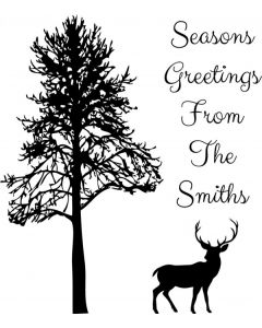 Personalised Christmas Stamp - Stag & Tree